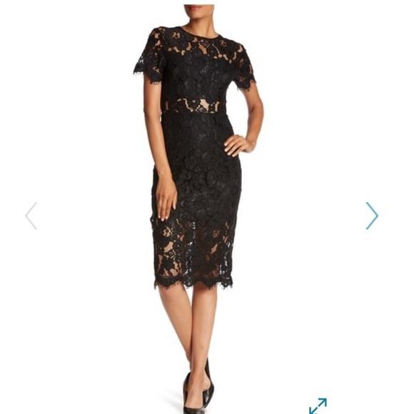 NSR Dresses & Skirts - Sexy Black Lace Midi Dress - Worn Once